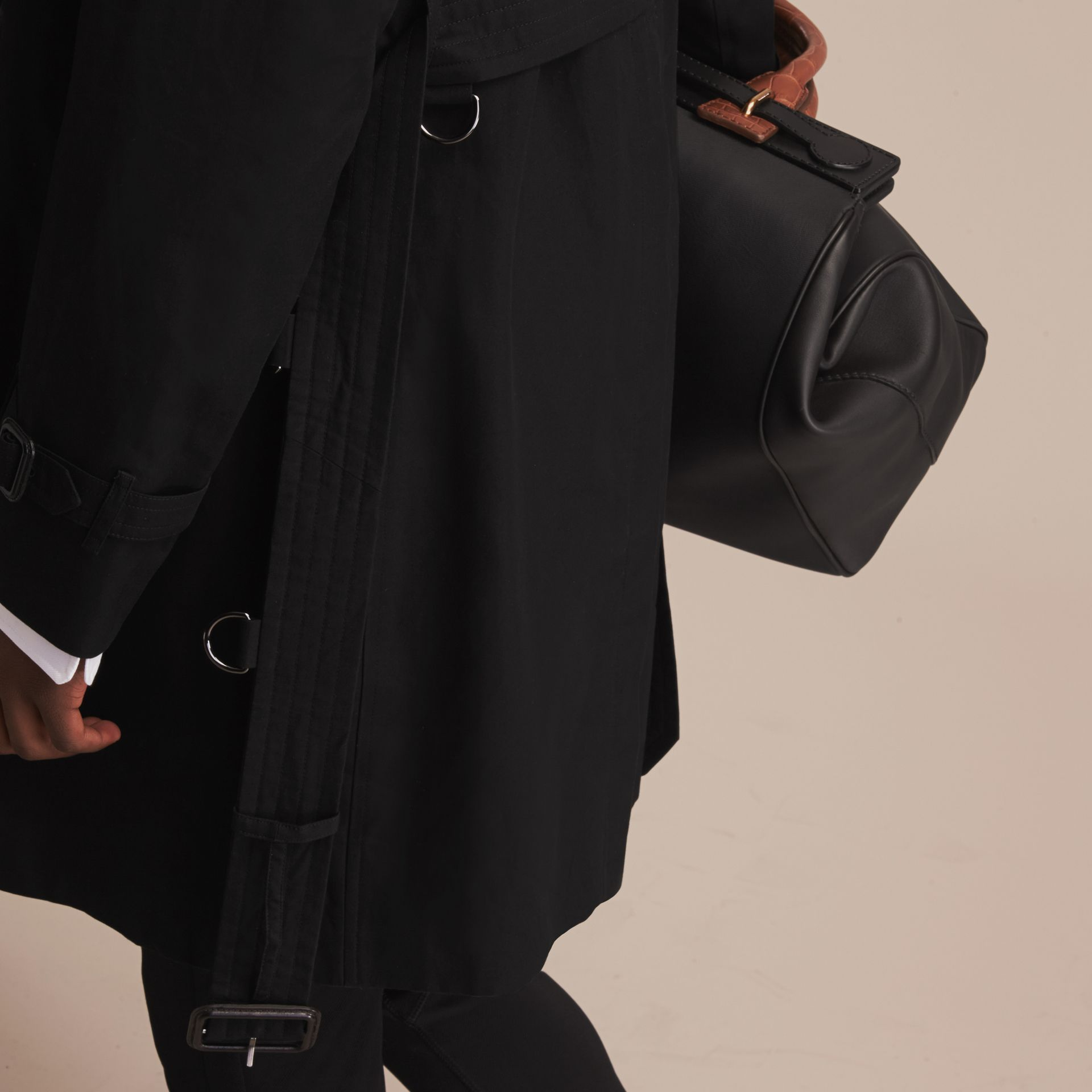 Black The Sandringham – Long Heritage Trench Coat Black - gallery image 7
