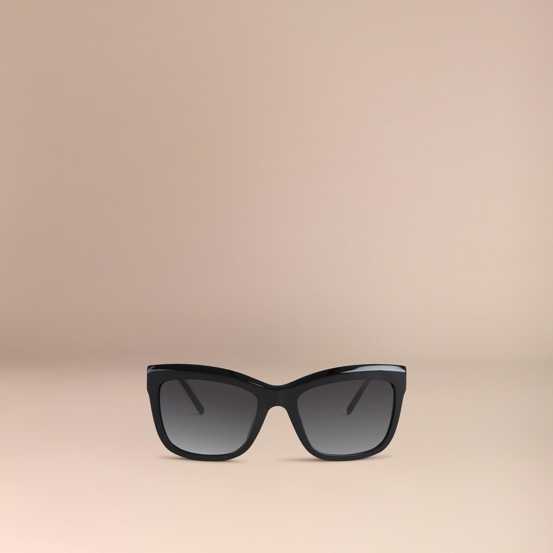 Preto Óculos de sol com armação quadrada da coleção Gabardine Lace Preto - galeria de imagens 3