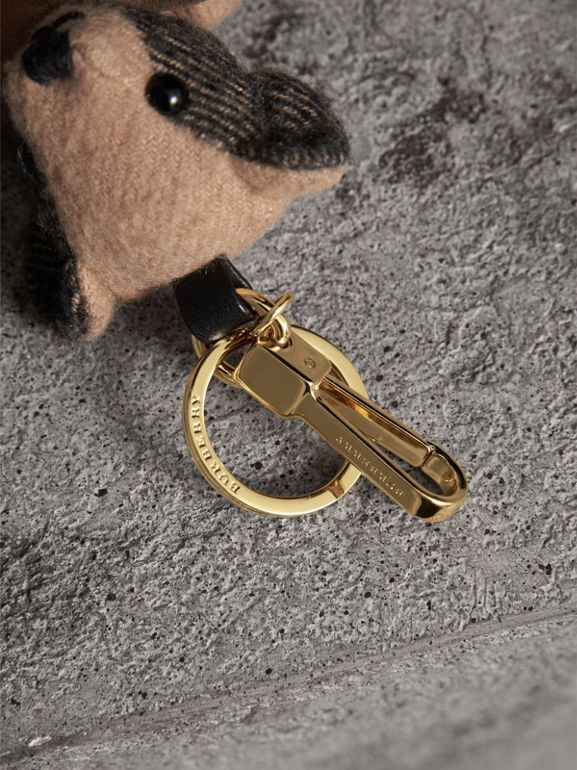 Adorno do Thomas Bear de cashmere com estampa xadrez (Camel) | Burberry - cell image 1