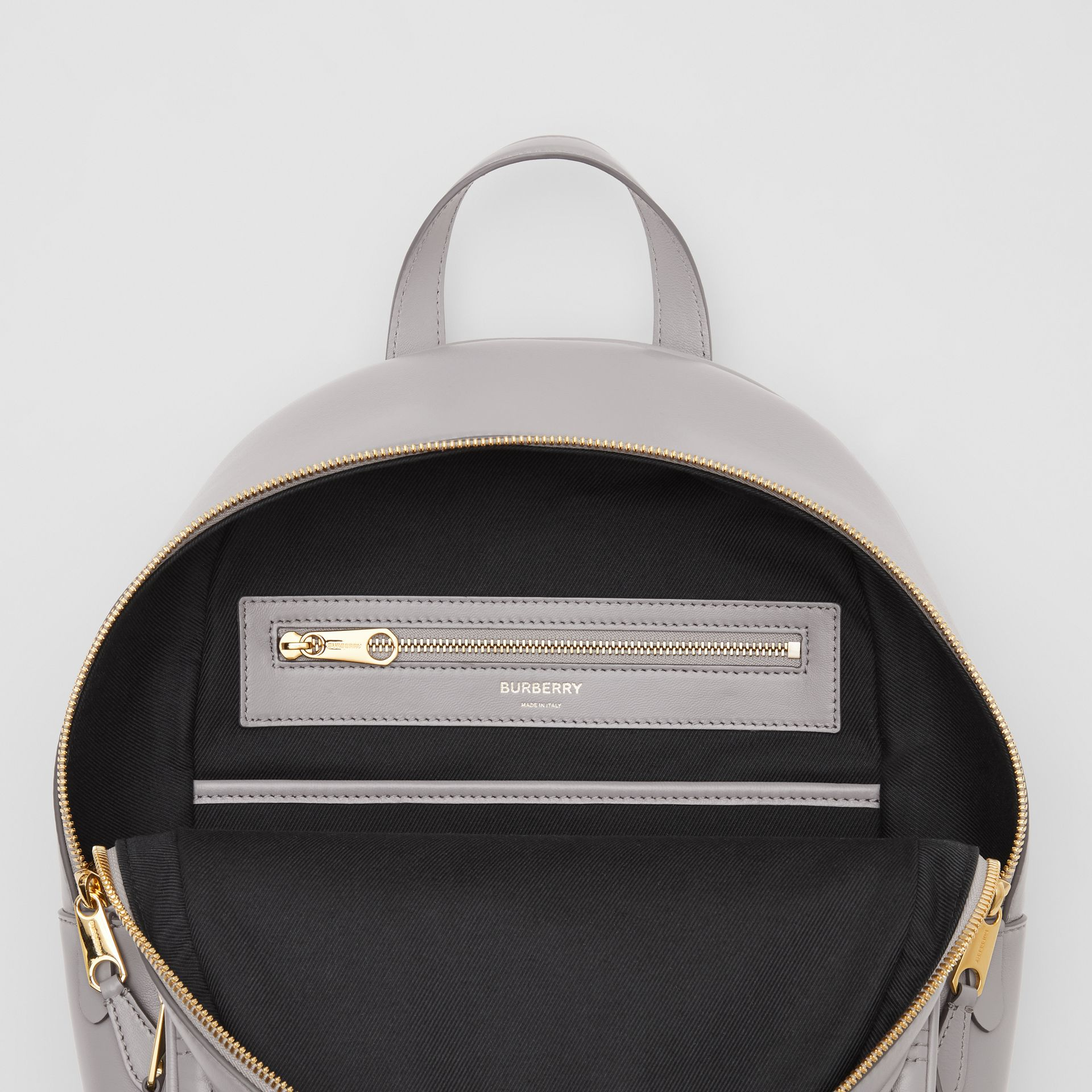 Quilted Lambskin Backpack in Cloud Grey - Women | Burberry United States - gallery image 4