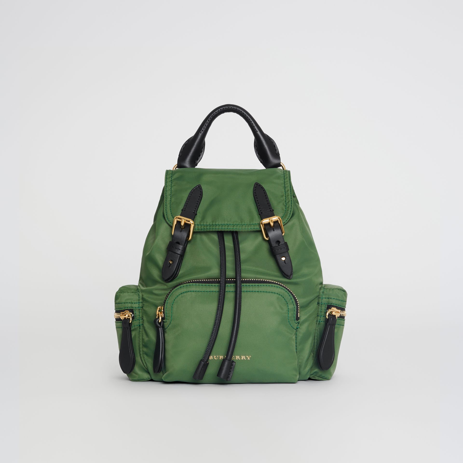 The Small Crossbody Rucksack in Nylon in Racing Green - Women | Burberry Australia - gallery image 4