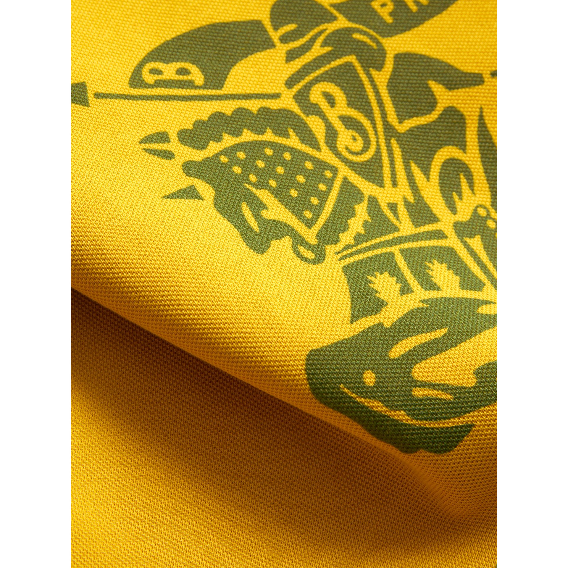 Large Archive Logo Jersey Shopper in Ochre Yellow | Burberry Australia - gallery image 1