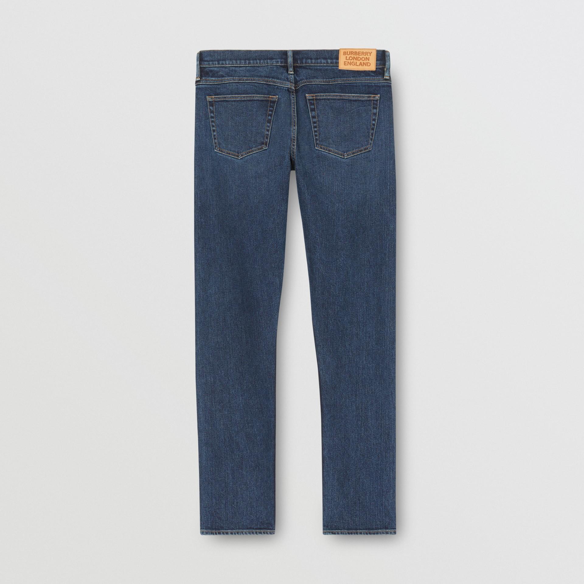 Slim Fit Washed Denim Jeans in Dark Indigo - Men   Burberry - gallery image 5