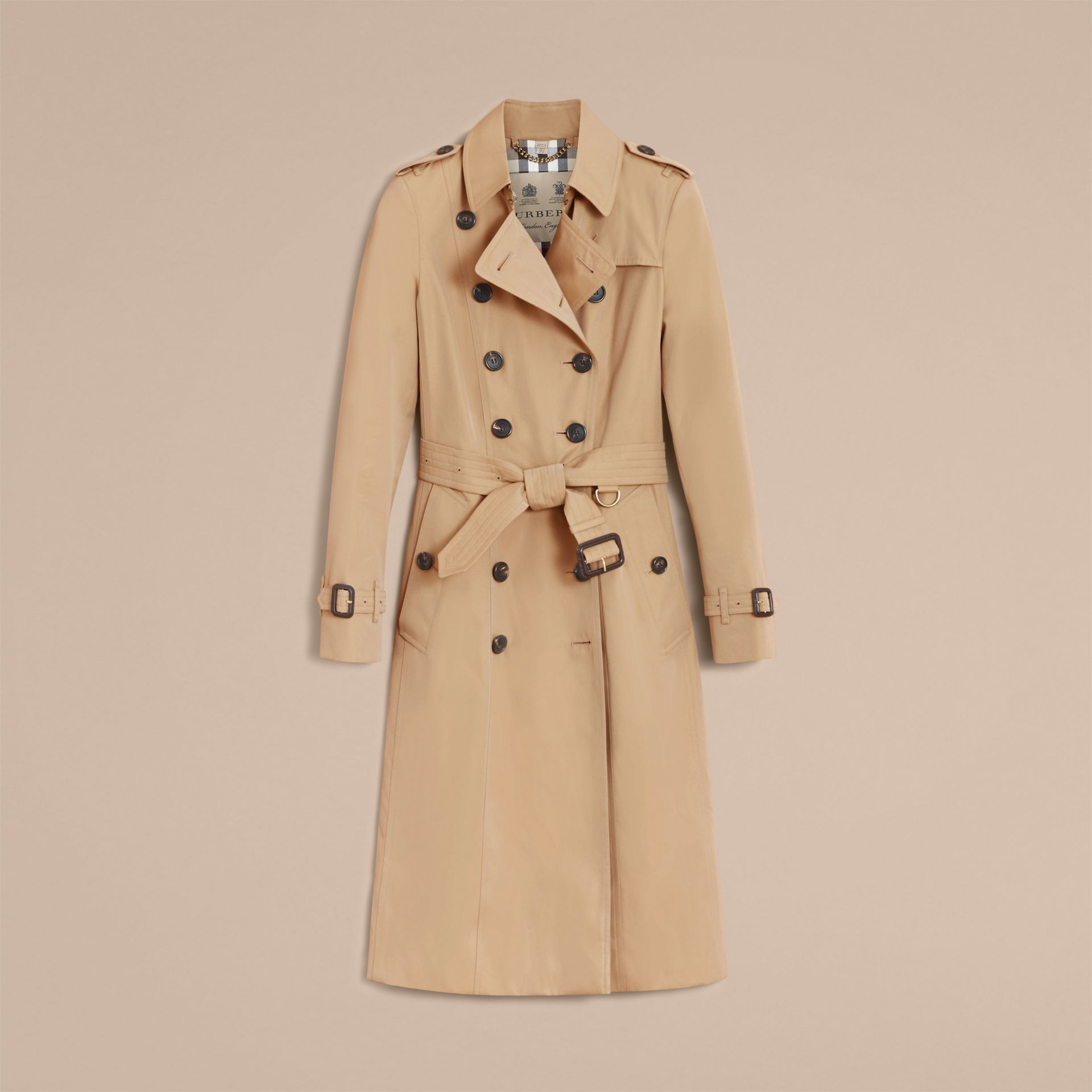Honey The Chelsea – Extra-long Heritage Trench Coat Honey - gallery image 5