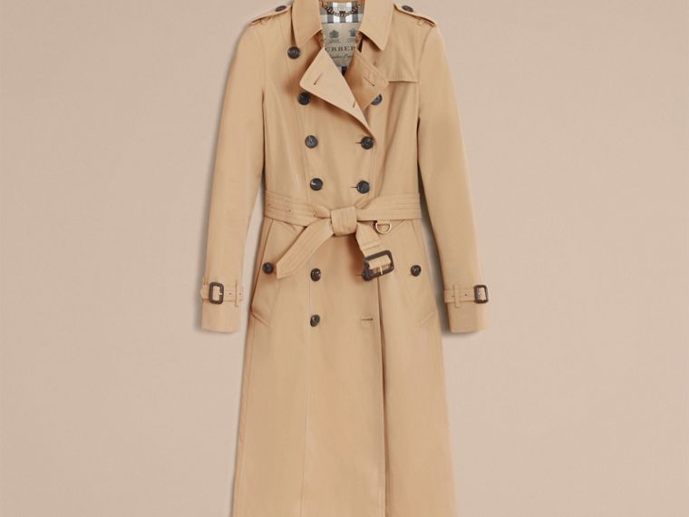 Honey The Chelsea – Extra-long Heritage Trench Coat Honey - cell image 4