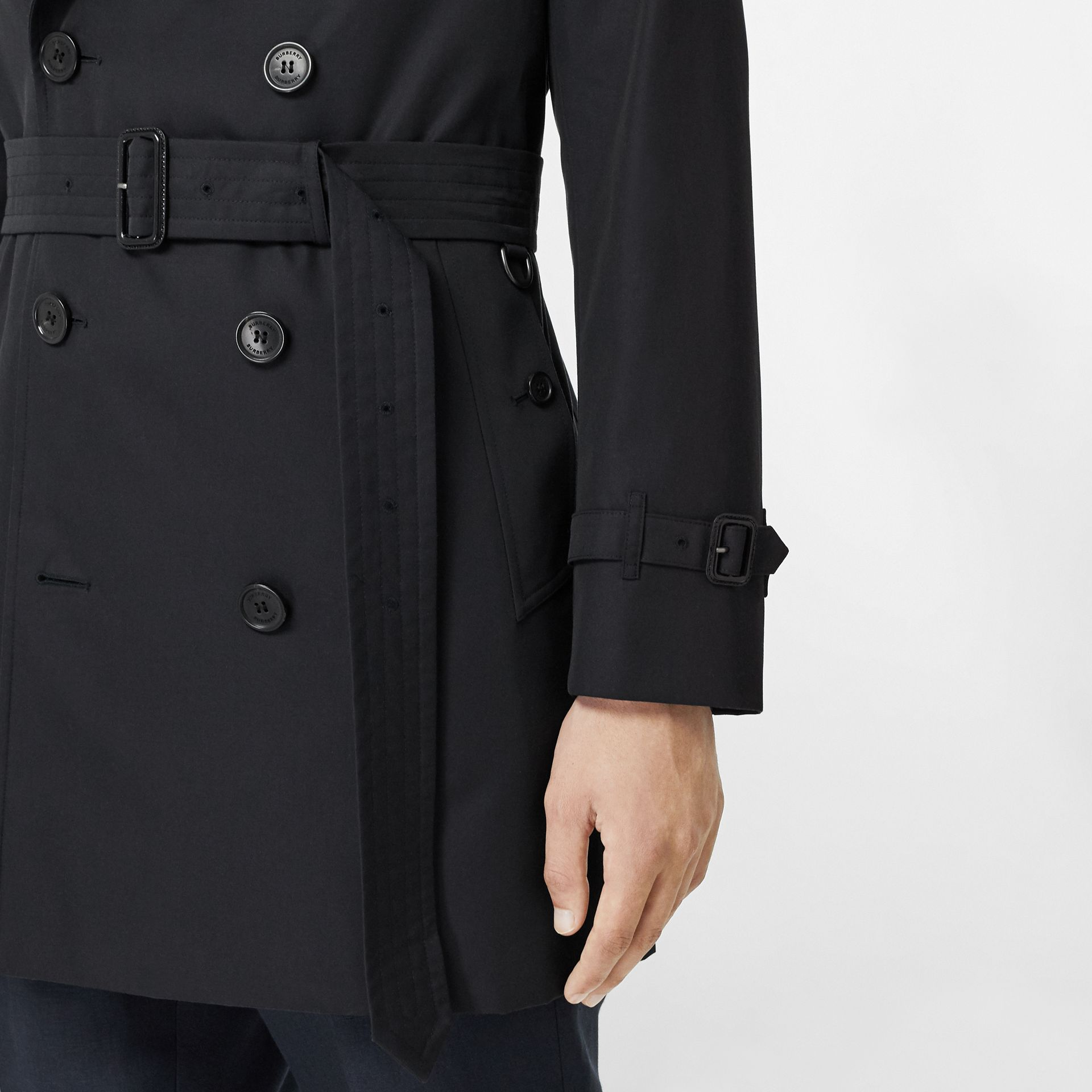 Cotton Gabardine Trench Coat in Midnight Navy - Men | Burberry United Kingdom - gallery image 4