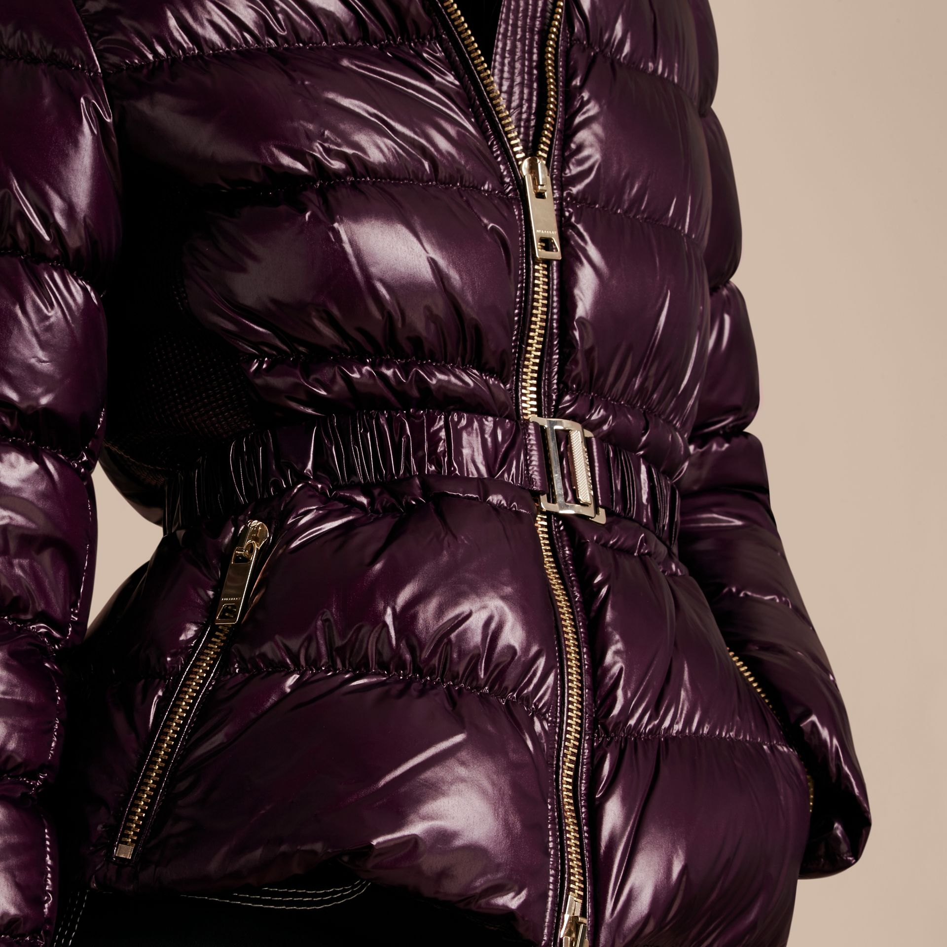 Dark elderberry Lightweight Down-filled Jacket - gallery image 5
