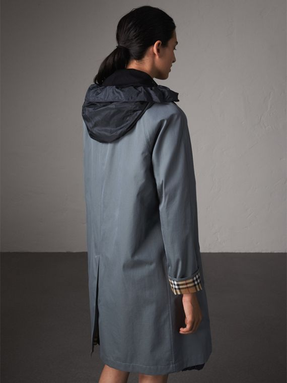 The Camden Car Coat in Dusty Blue - Women | Burberry - cell image 2