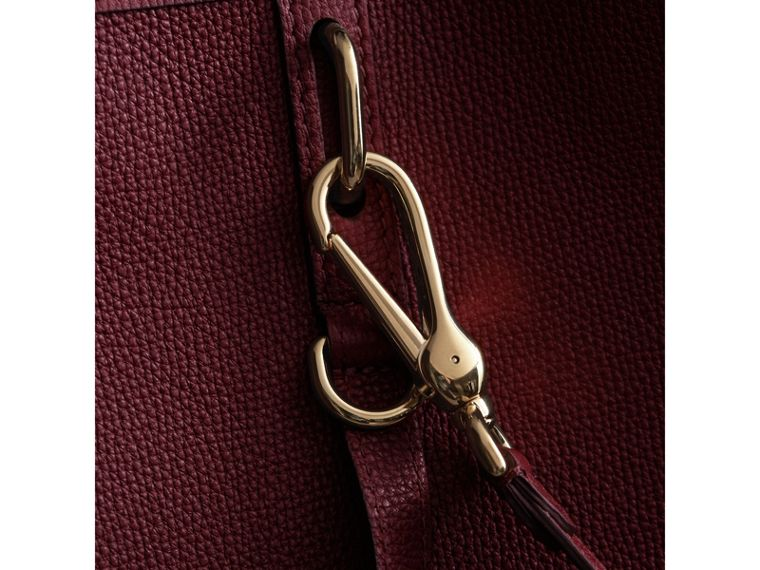 Medium Grainy Leather Tote Bag in Mahogany Red - Women | Burberry - cell image 1