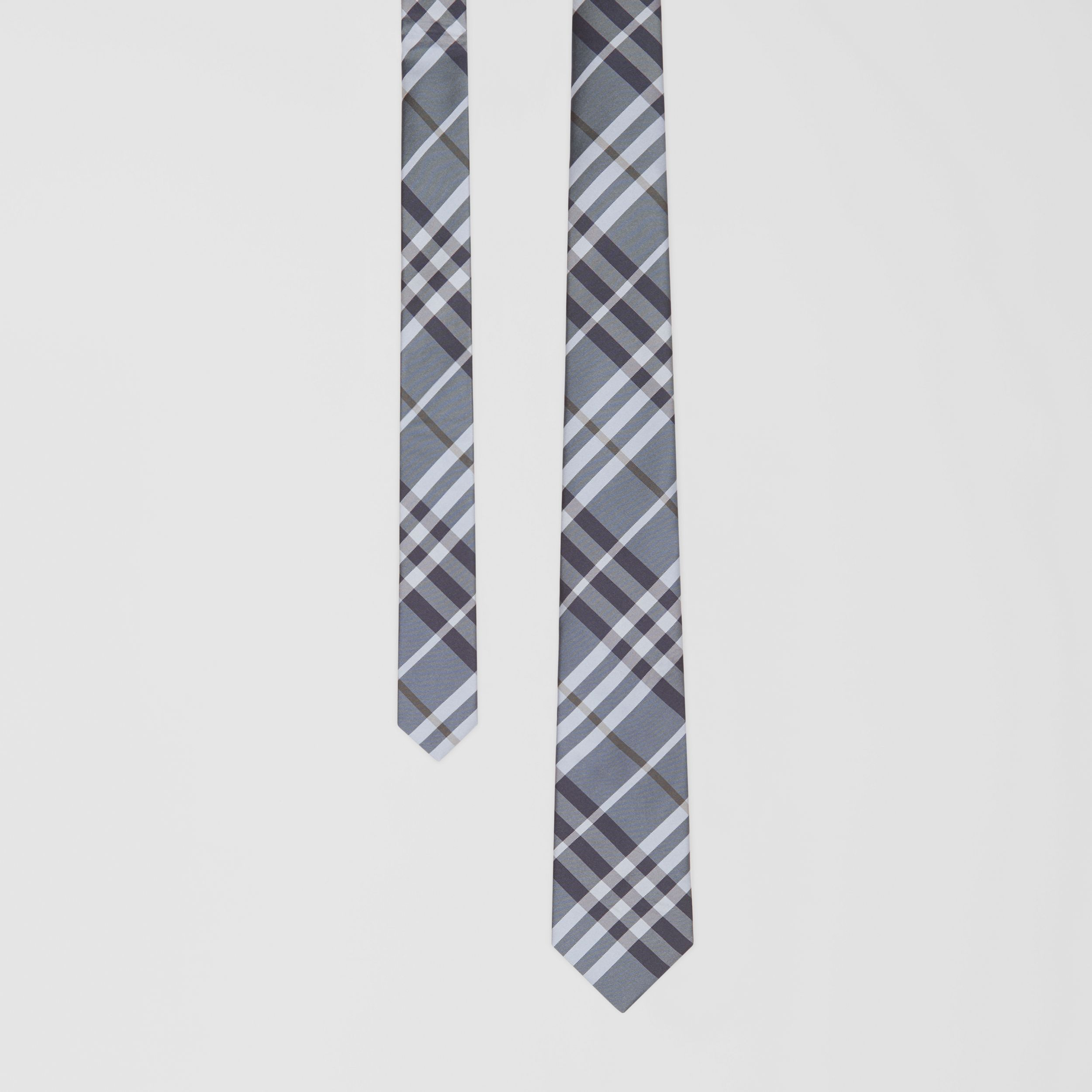 Classic Cut Vintage Check Silk Tie in Chalk Blue - Men | Burberry - 1