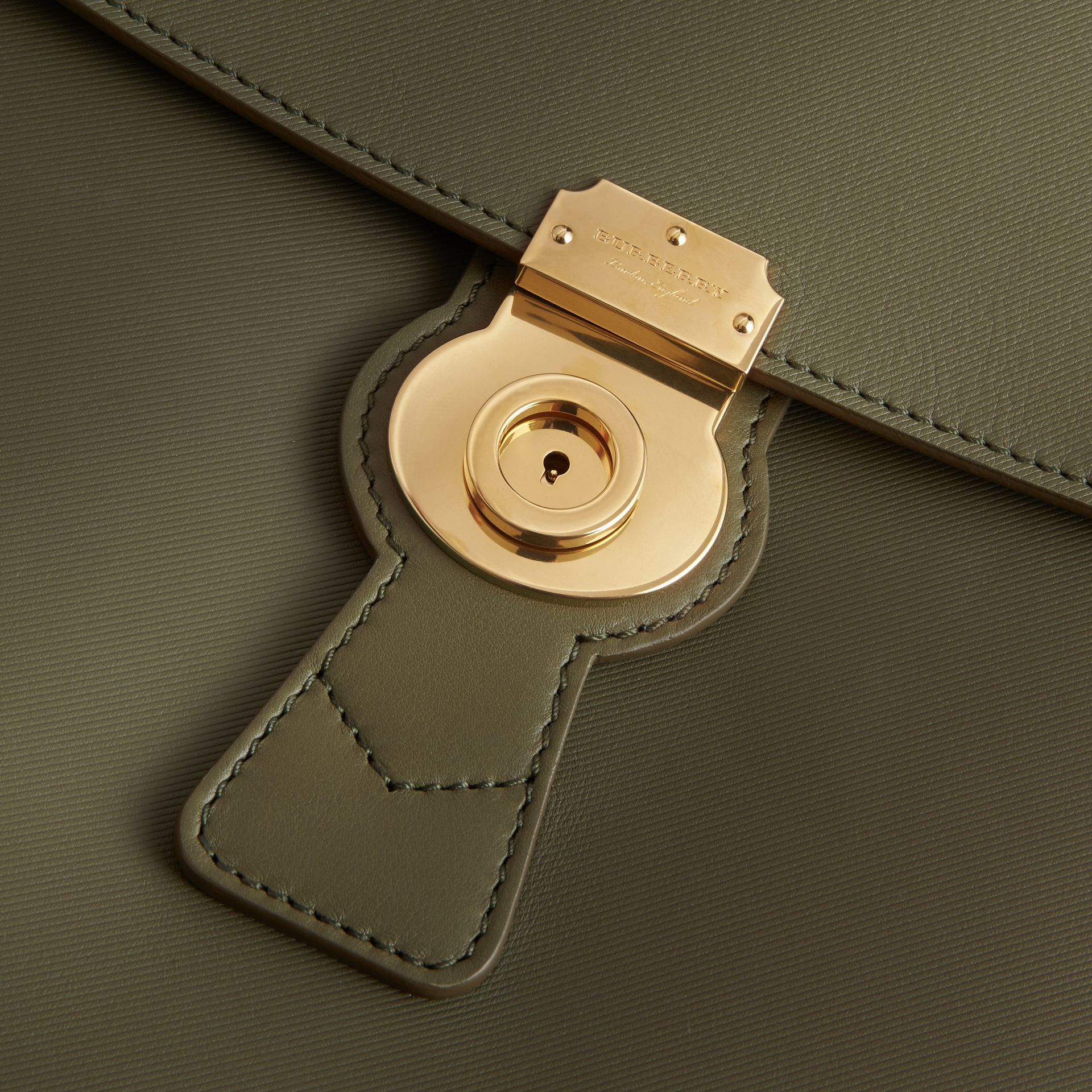 The Large DK88 Top Handle Bag in Moss Green - Women | Burberry - gallery image 2