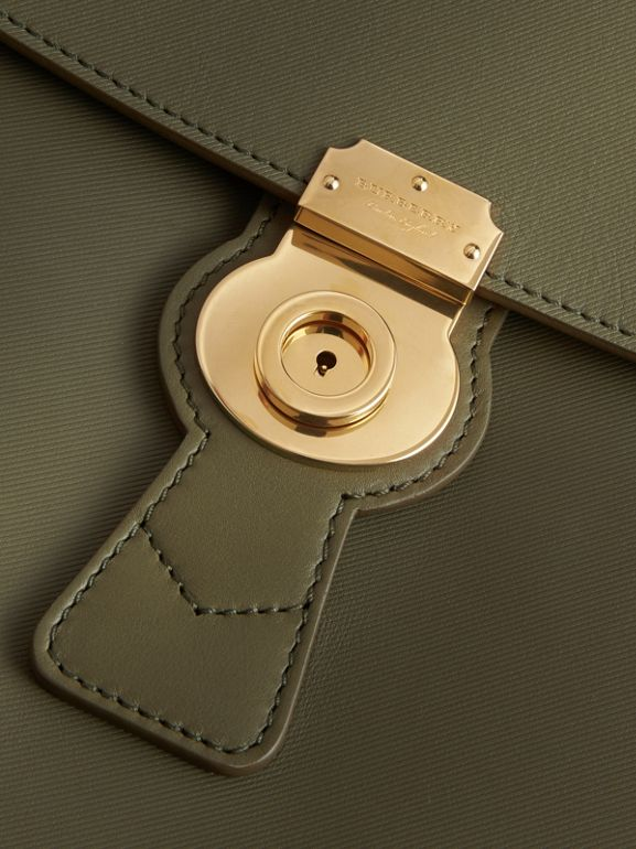 The Large DK88 Top Handle Bag in Moss Green - Women | Burberry - cell image 1