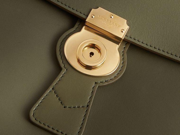 The Large DK88 Top Handle Bag in Moss Green - Women | Burberry Australia - cell image 1