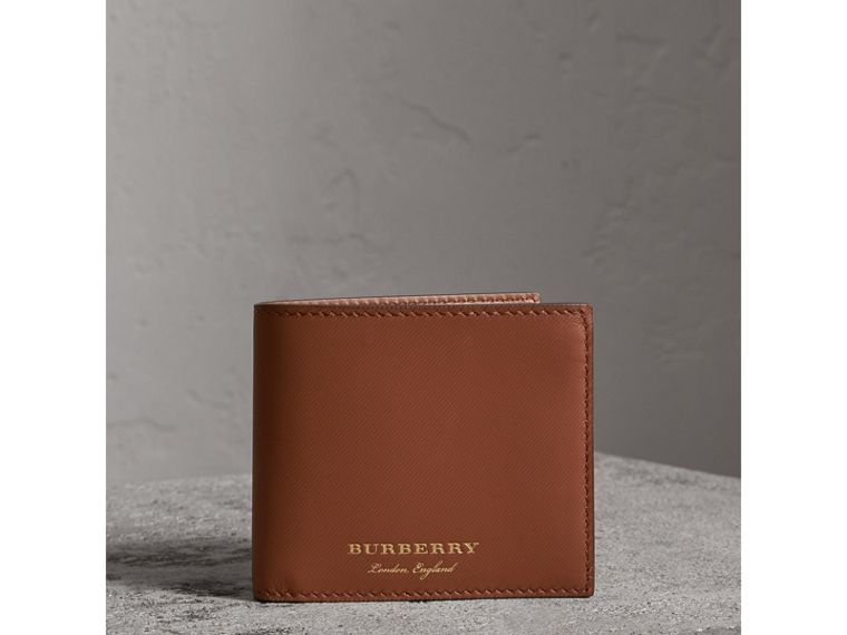 Trench Leather Bifold Wallet with Removable Card Case in Tan - Men | Burberry - cell image 4