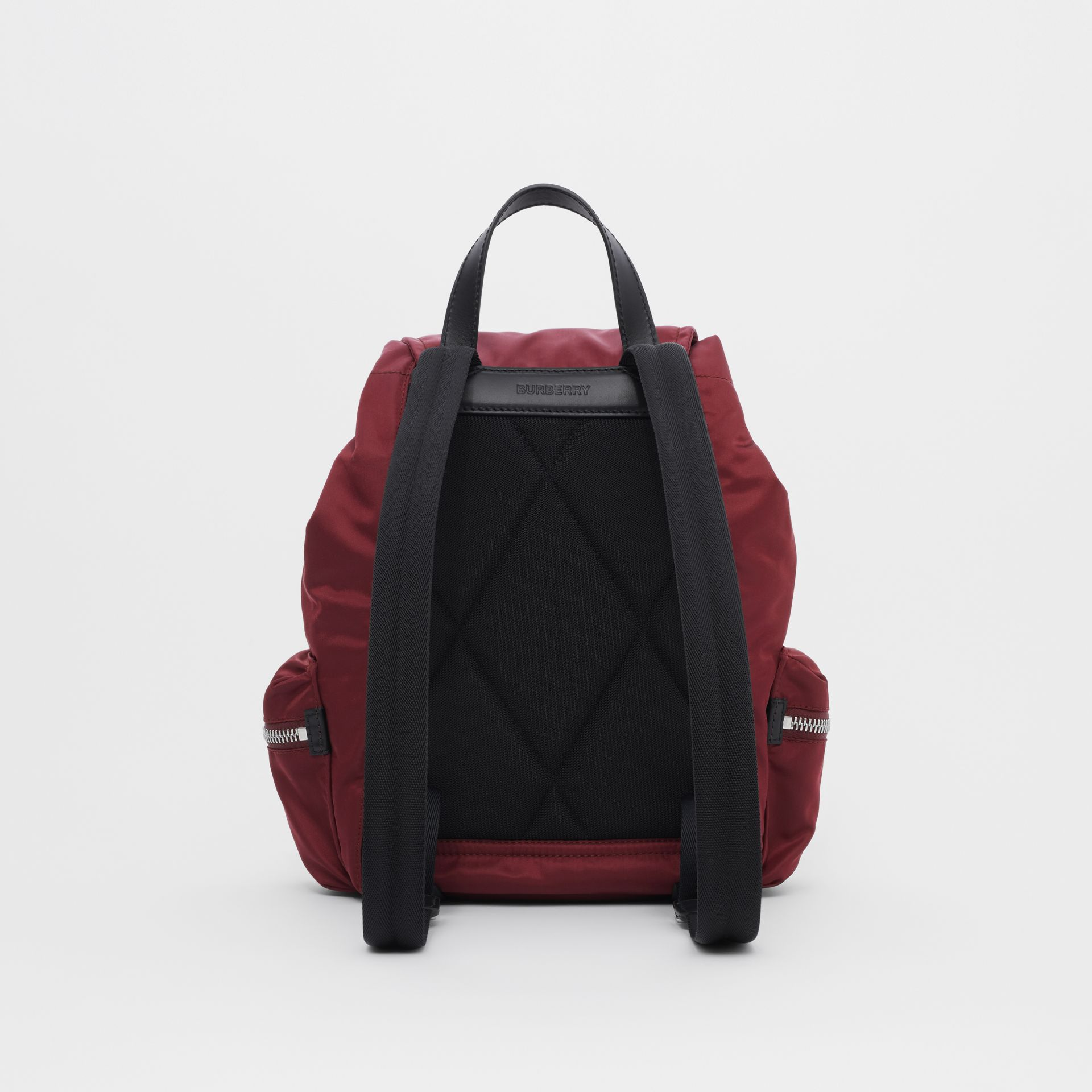 The Medium Rucksack in Logo Print ECONYL® in Burgundy - Women | Burberry Singapore - gallery image 7