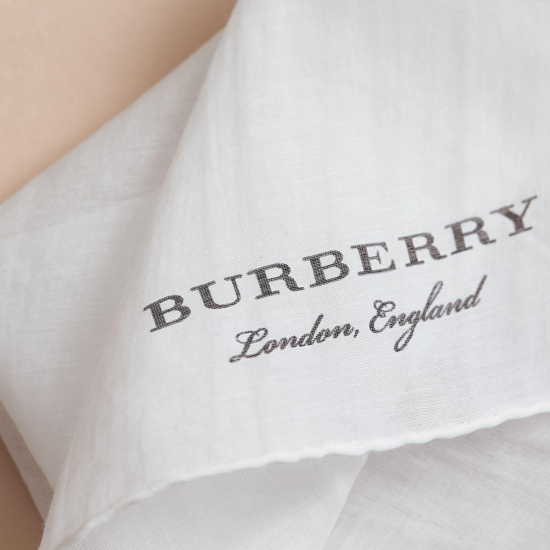 Cotton Silk Pocket Square - Men | Burberry - gallery image 2