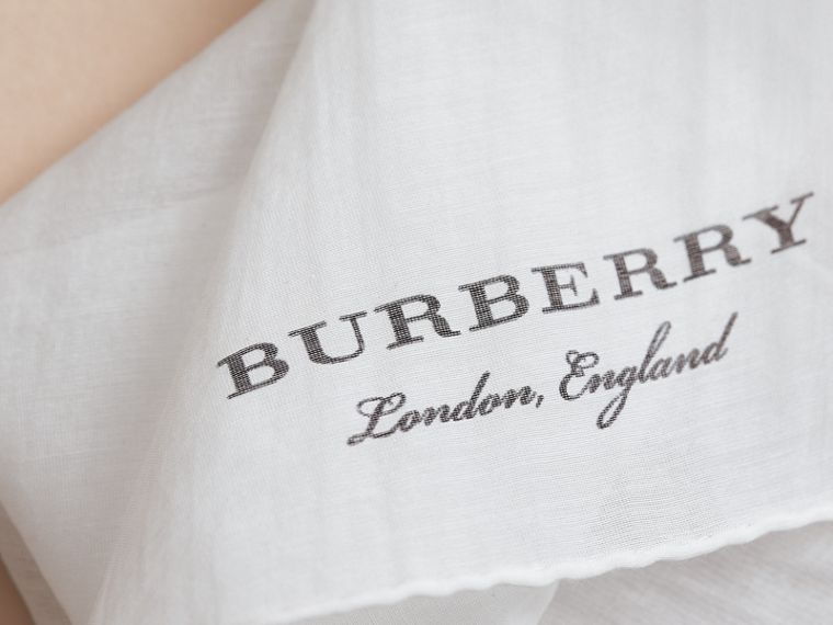 Cotton Silk Pocket Square - Men | Burberry - cell image 1