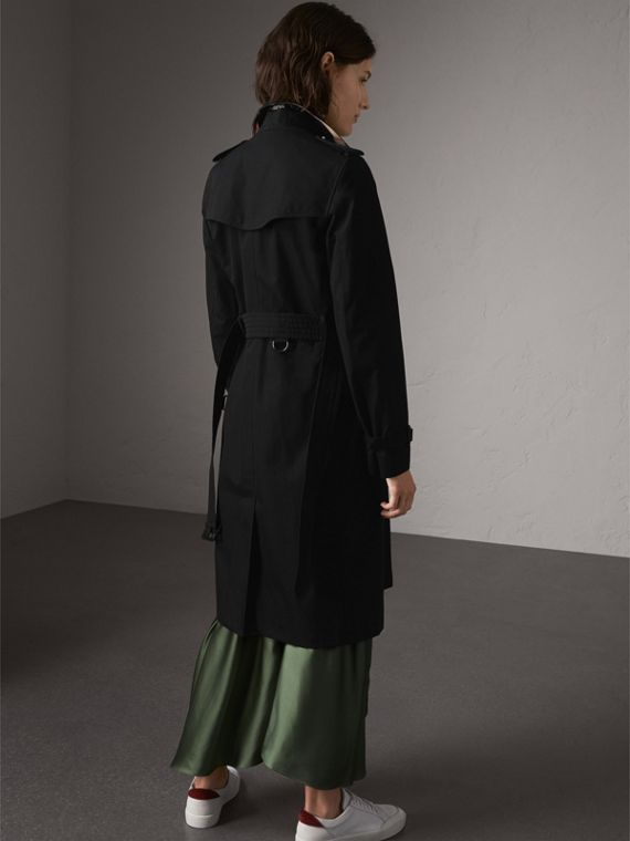 The Kensington – Extra-long Trench Coat in Black - Women | Burberry - cell image 2