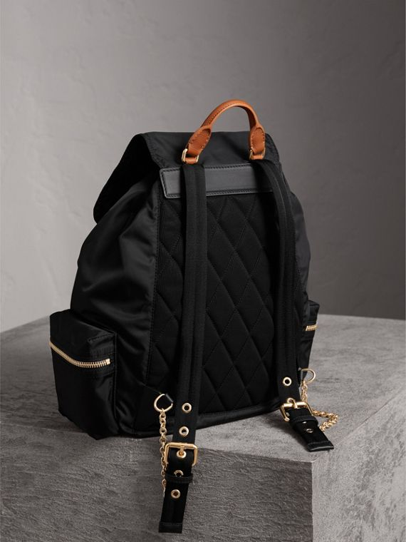 The Large Rucksack in Pallas Heads Appliqué in Black - Women | Burberry - cell image 3