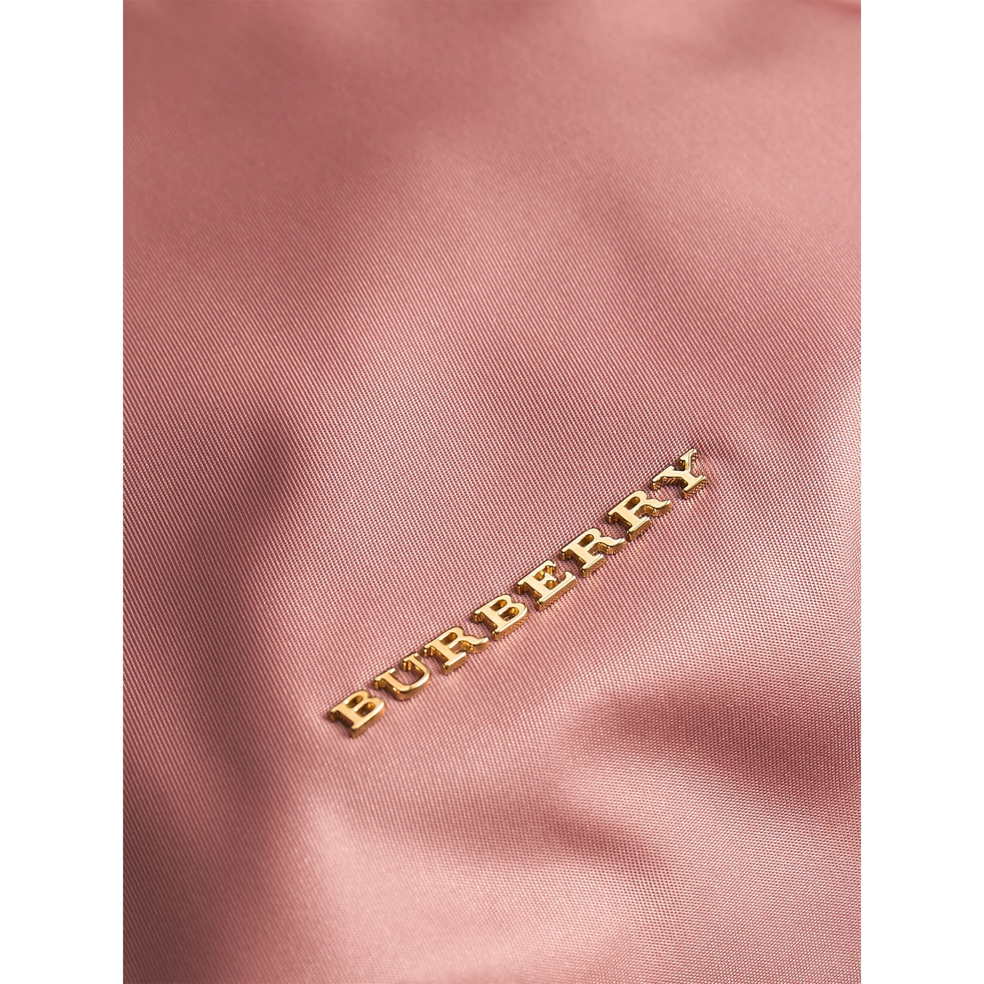 Large Zip-top Technical Nylon Pouch in Mauve Pink - Women | Burberry Australia - gallery image 6