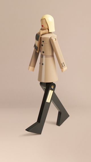Miss Trench Limited Edition Wooden Puppet