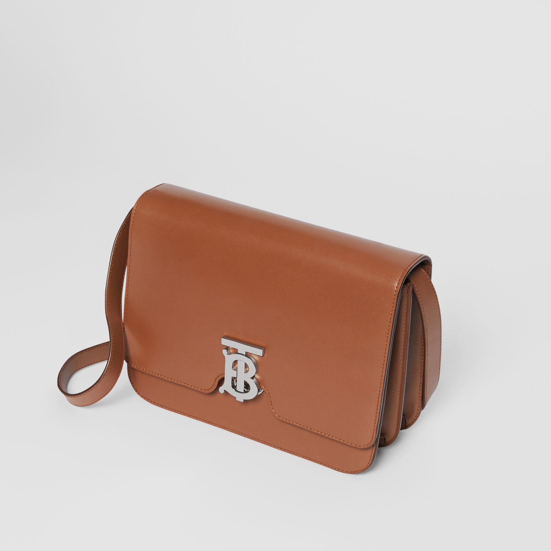Medium Leather TB Bag in Malt Brown - Women | Burberry - gallery image 3