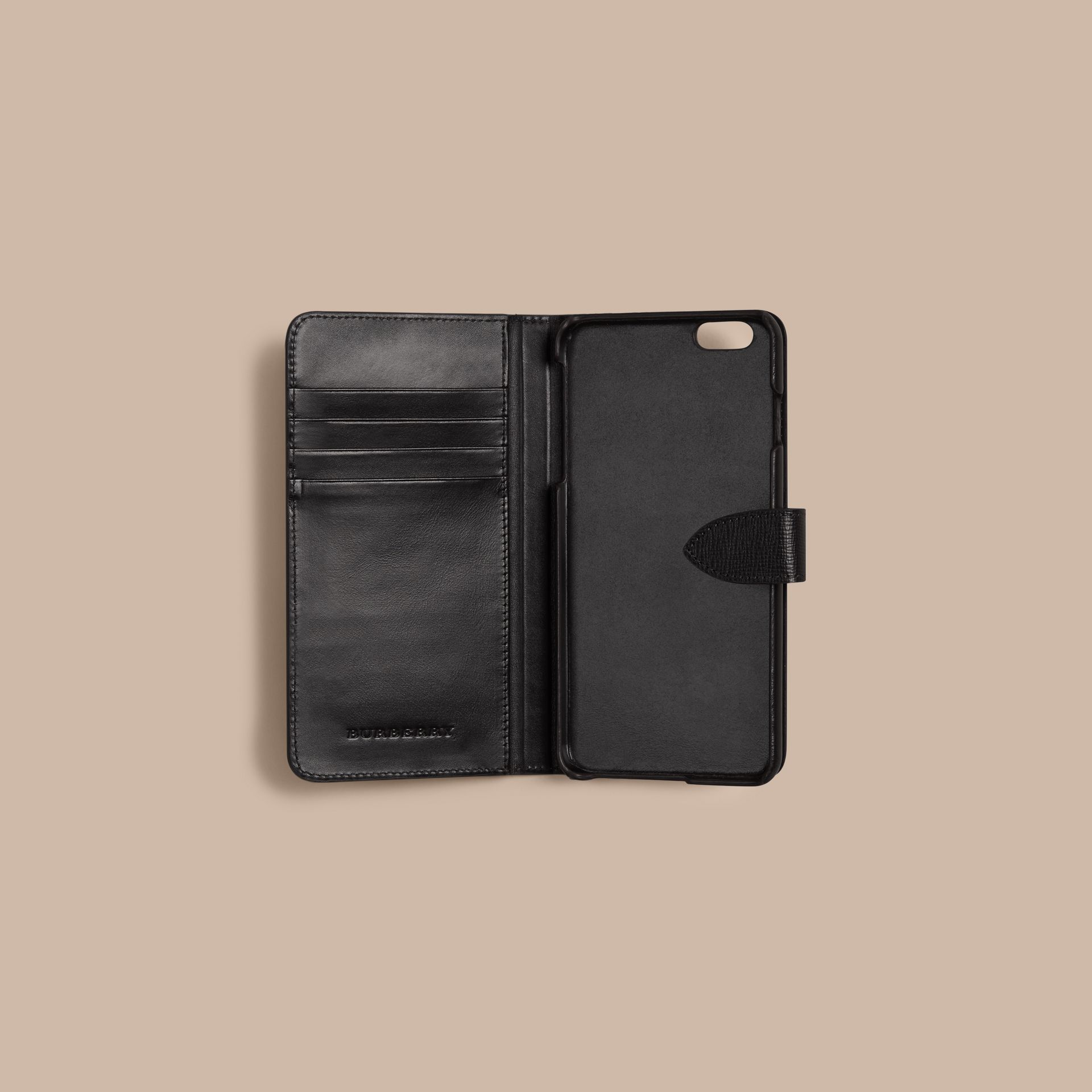 Wine London Leather iPhone 6 Plus Flip Case Wine - gallery image 3