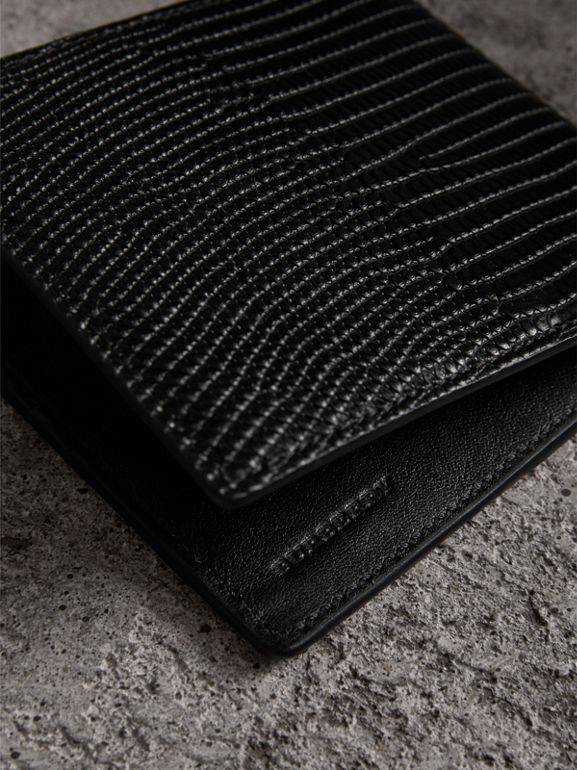 Lizard International Bifold Wallet in Black - Men | Burberry United Kingdom - cell image 1