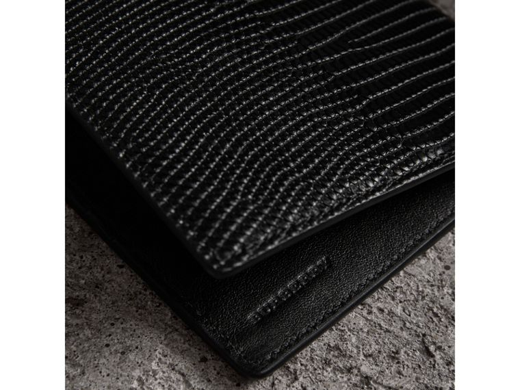 Lizard International Bifold Wallet in Black - Men | Burberry - cell image 1