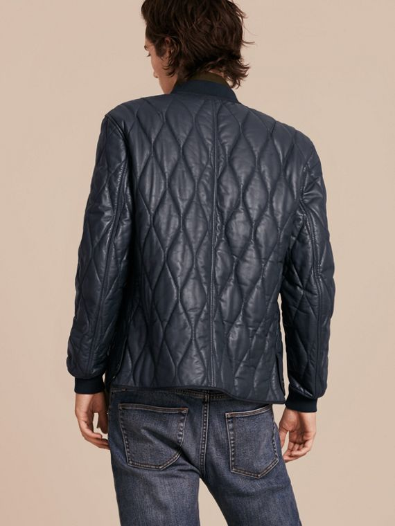 Navy Quilted Lambskin Jacket - cell image 2