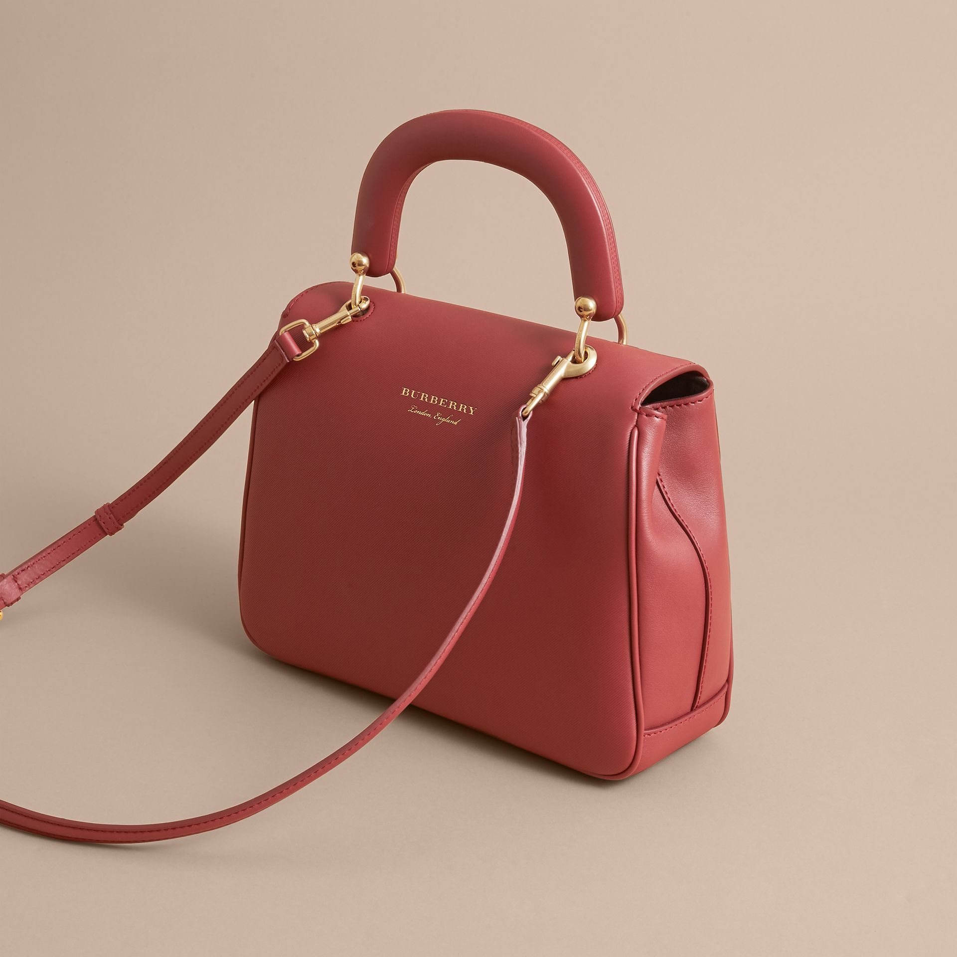 The Medium DK88 Top Handle Bag in Antique Red - Women | Burberry Singapore - gallery image 4