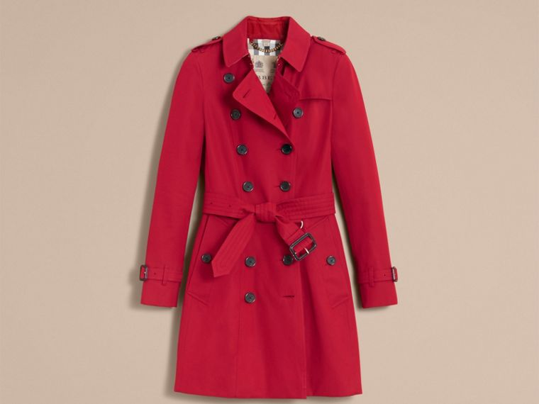 Parade red The Chelsea – Mid-length Heritage Trench Coat Parade Red - cell image 4