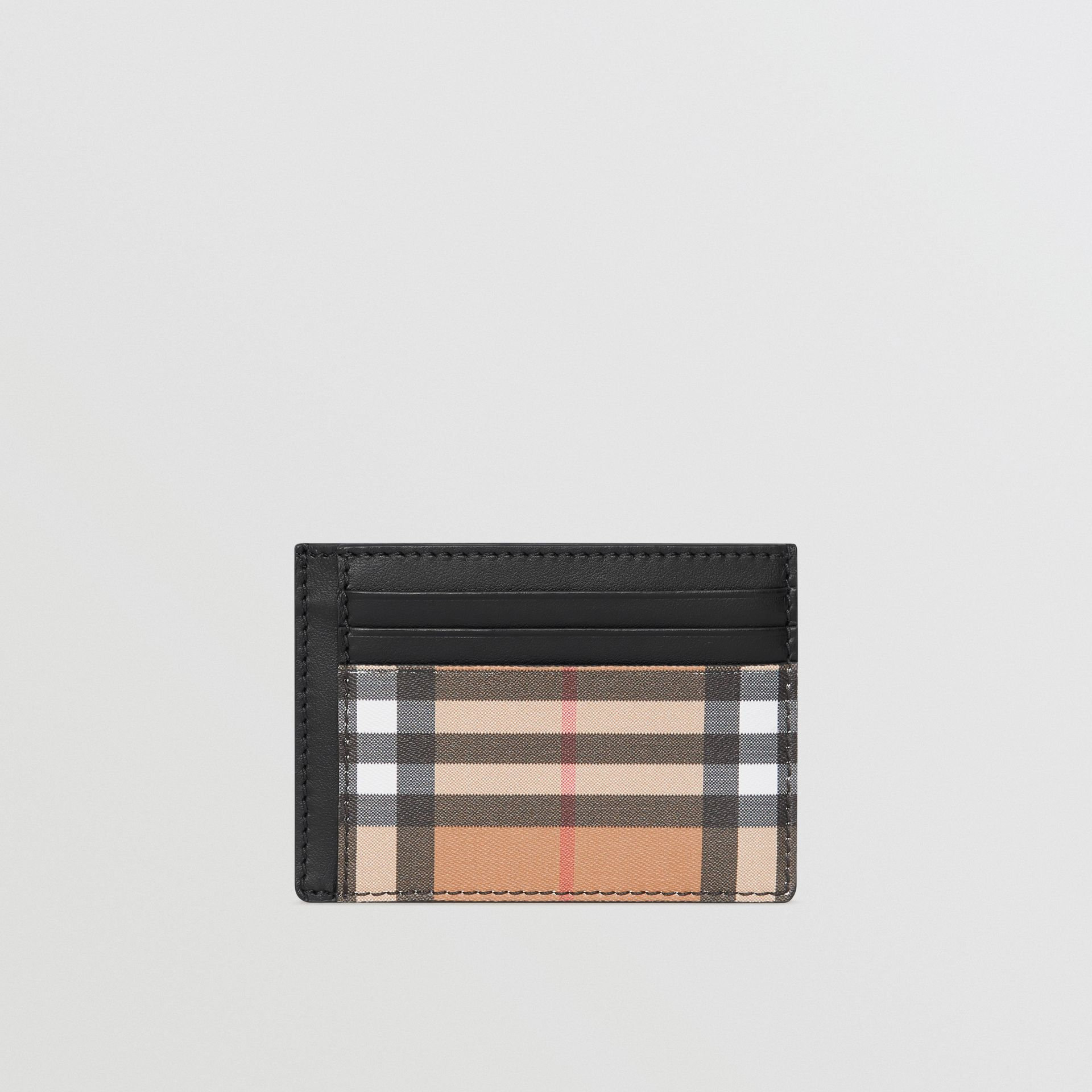 Vintage Check Leather Card Case in Black - Men | Burberry United Kingdom - gallery image 2