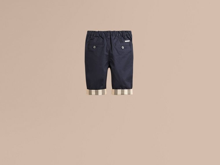 Check Cuff Chinos in Ink - Boy | Burberry - cell image 2