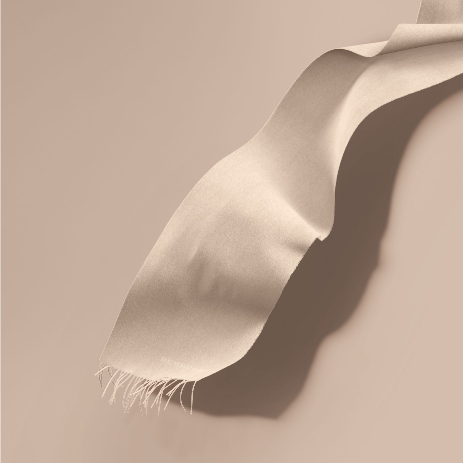 The Classic Cashmere Scarf in Stone | Burberry - gallery image 1