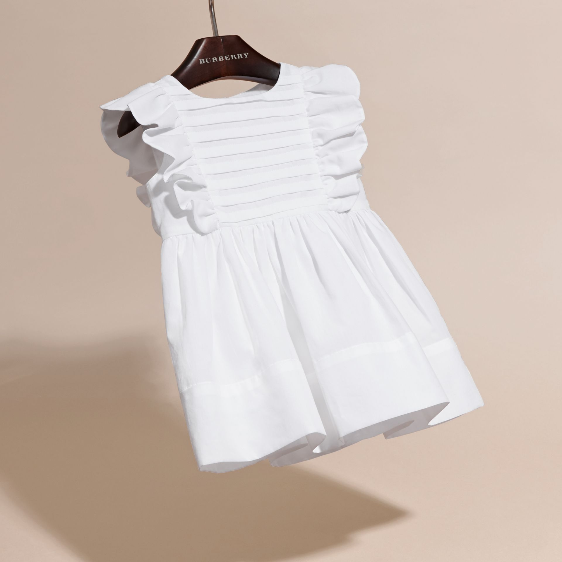 Ruffle and Pleat Detail Cotton Dress | Burberry - gallery image 3