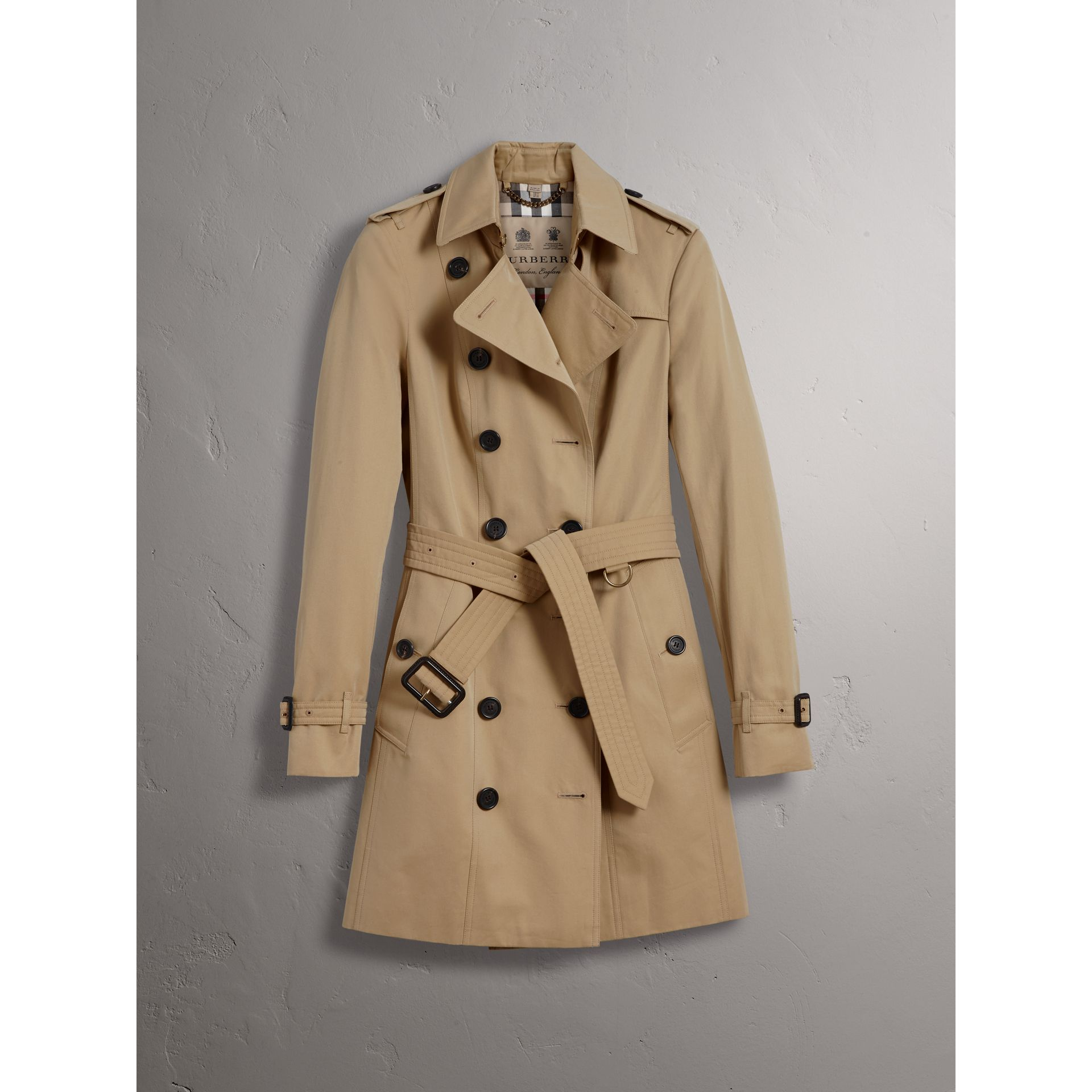df916ad68e9e The Sandringham – Mid-length Trench Coat in Honey - Women