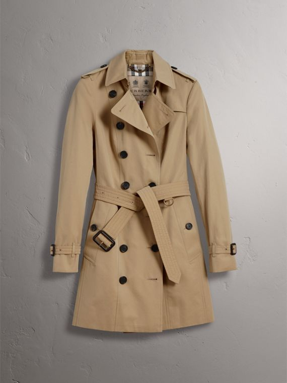 The Sandringham – Mid-Length Heritage Trench Coat in Honey - Women | Burberry - cell image 3