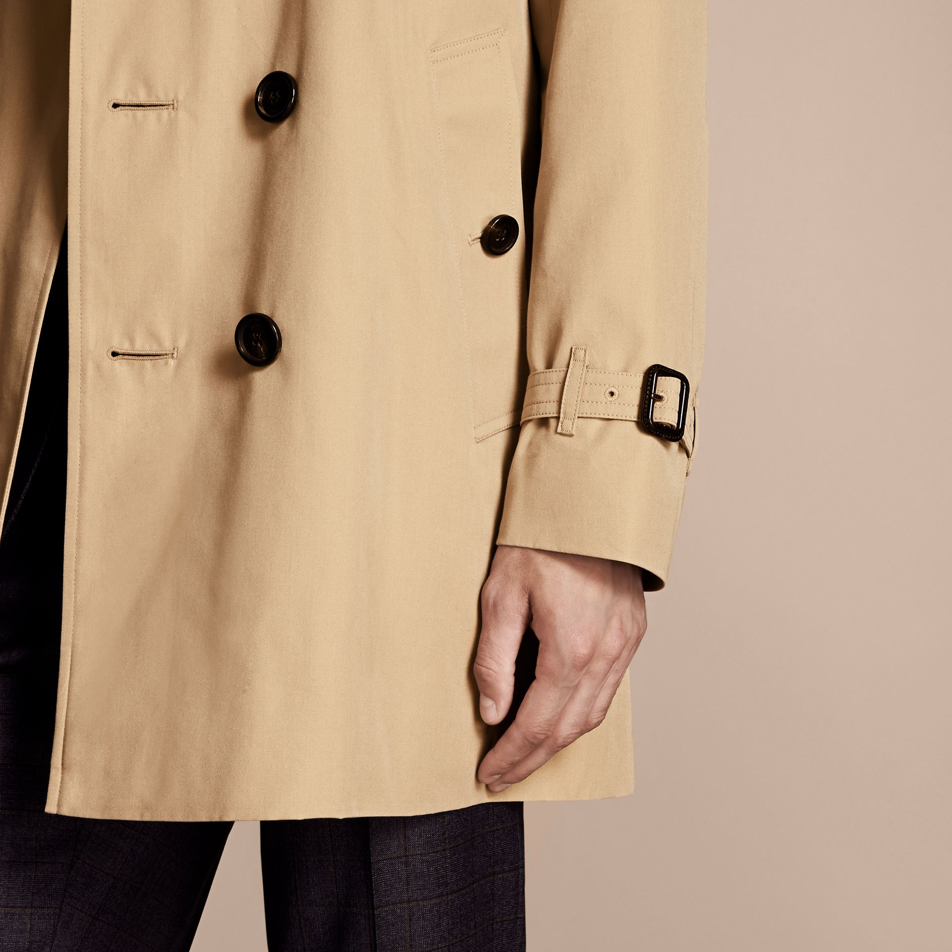 Honey The Kensington – Mid-Length Heritage Trench Coat Honey - gallery image 7
