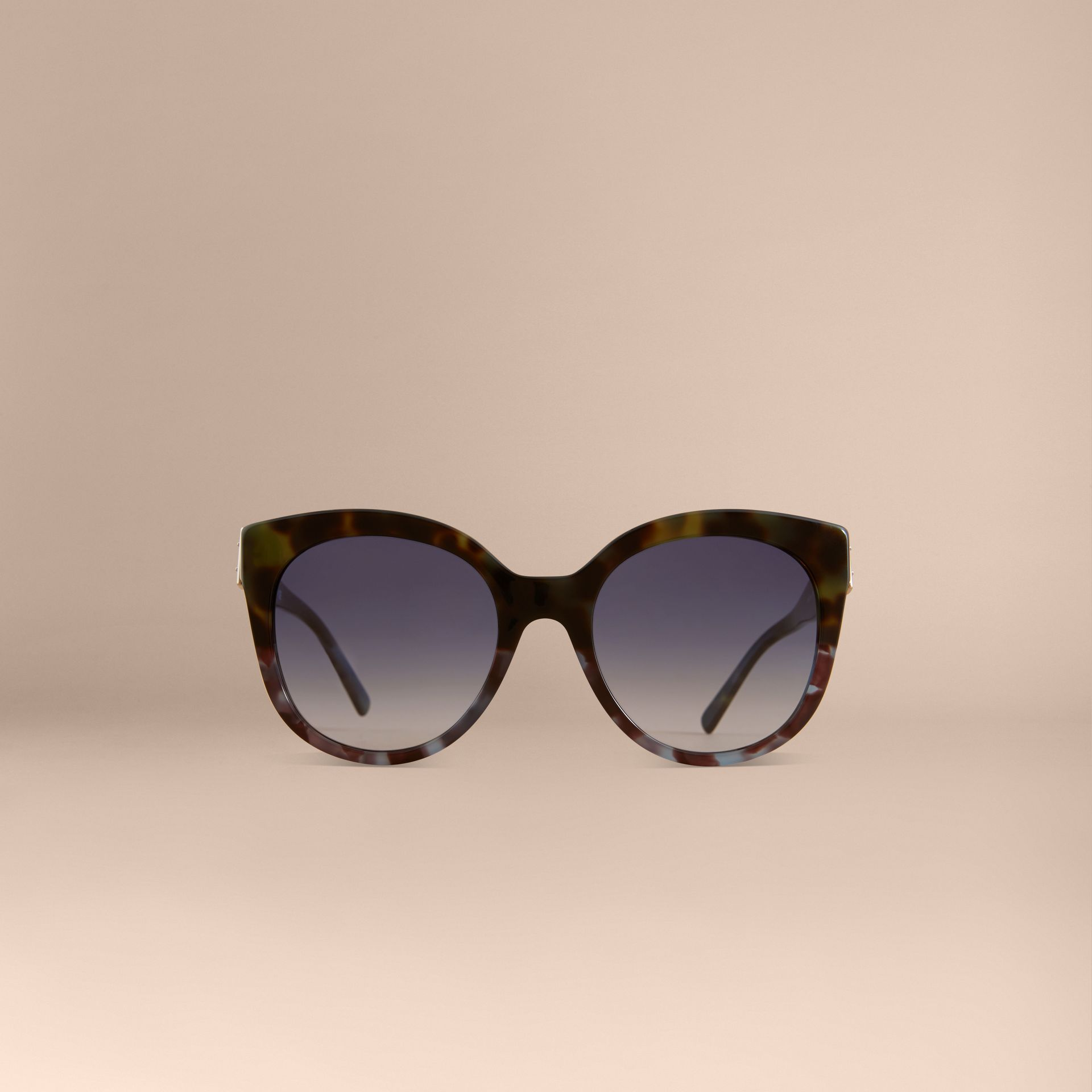 Buckle Detail Cat-eye Frame Sunglasses in Apple Green - Women | Burberry - gallery image 3