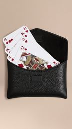 Grainy Leather Playing Card Case