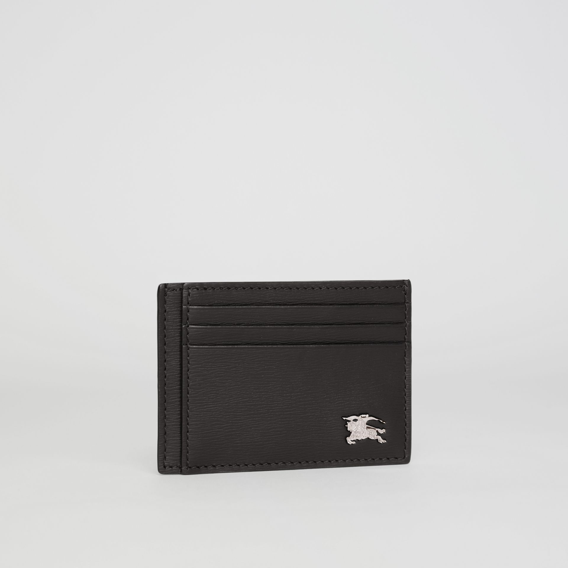 London Leather Card Case in Black - Men | Burberry United Kingdom - gallery image 4