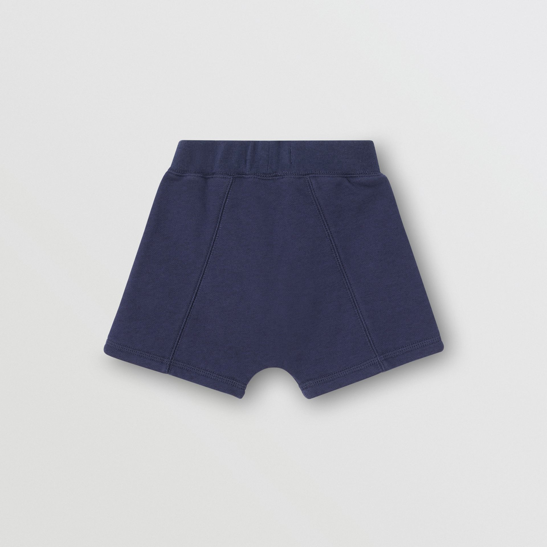Kingdom Motif Cotton Drawcord Shorts in Slate Blue Melange - Children | Burberry - gallery image 3