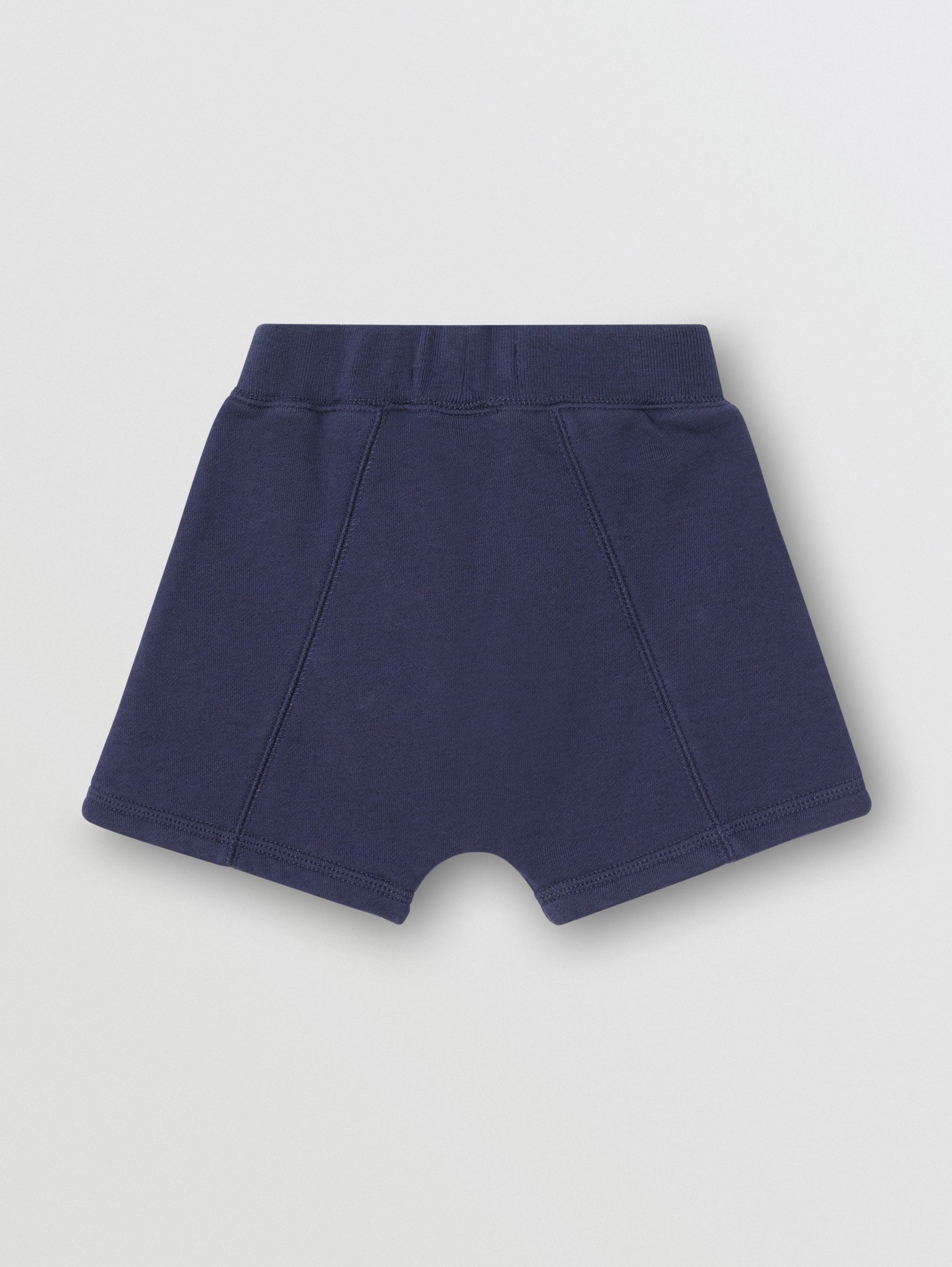 Kingdom Motif Cotton Drawcord Shorts in Slate Blue Melange - Children | Burberry - 4