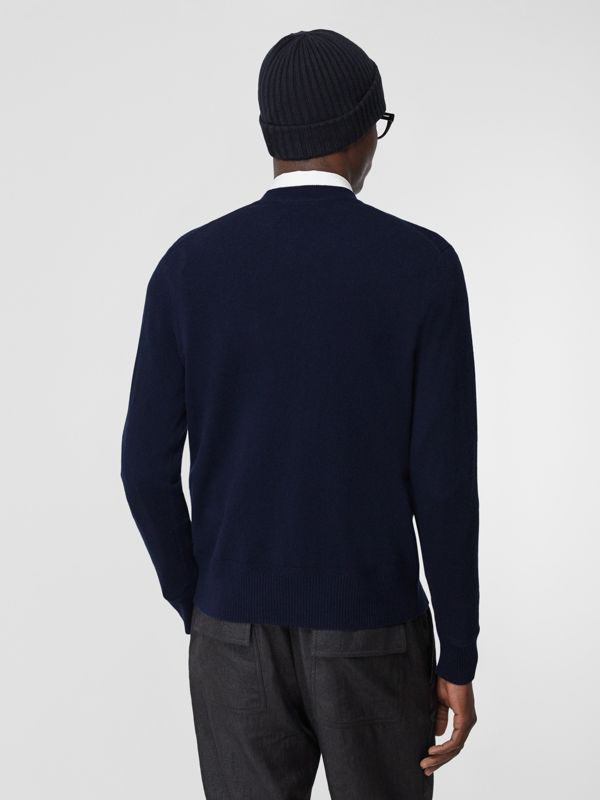 Monogram Motif Cashmere Sweater in Navy - Men | Burberry - cell image 2