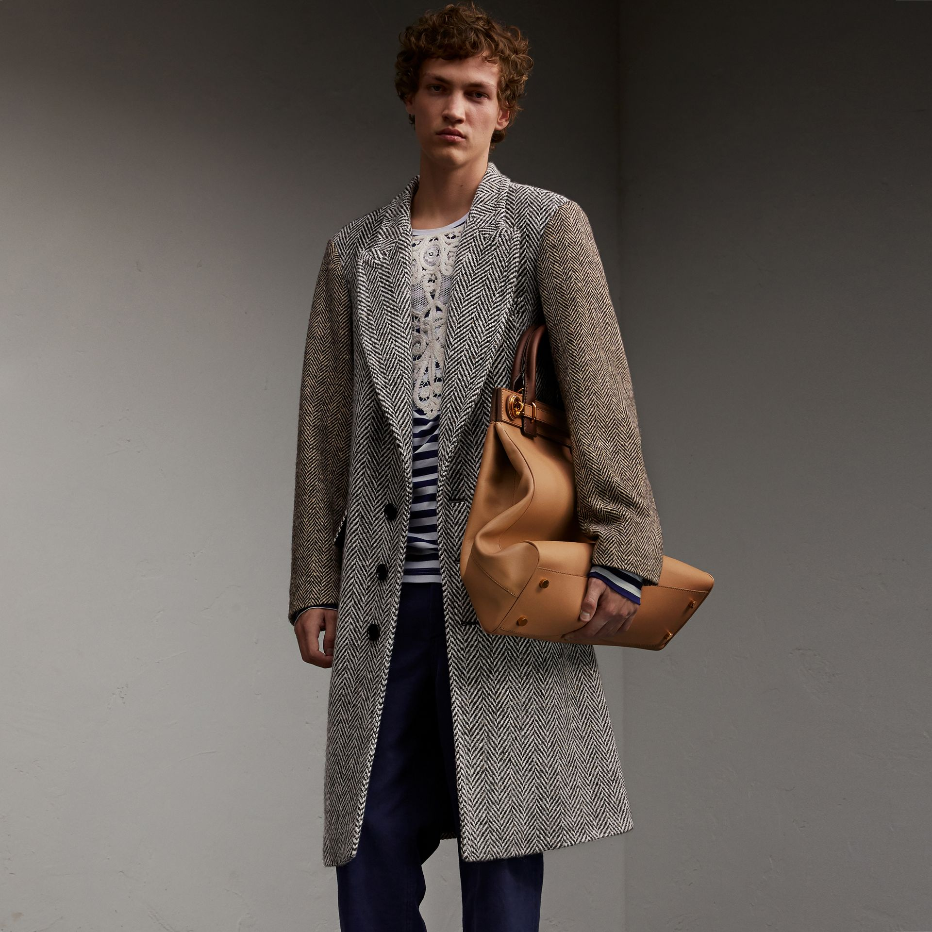 Donegal Herringbone Wool Tweed Chesterfield - Men | Burberry - gallery image 1