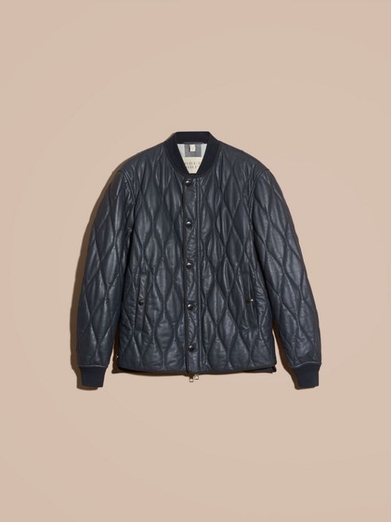 Navy Quilted Lambskin Jacket - cell image 3
