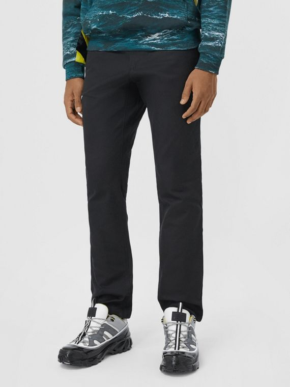 Classic Fit Cotton Chinos in Black