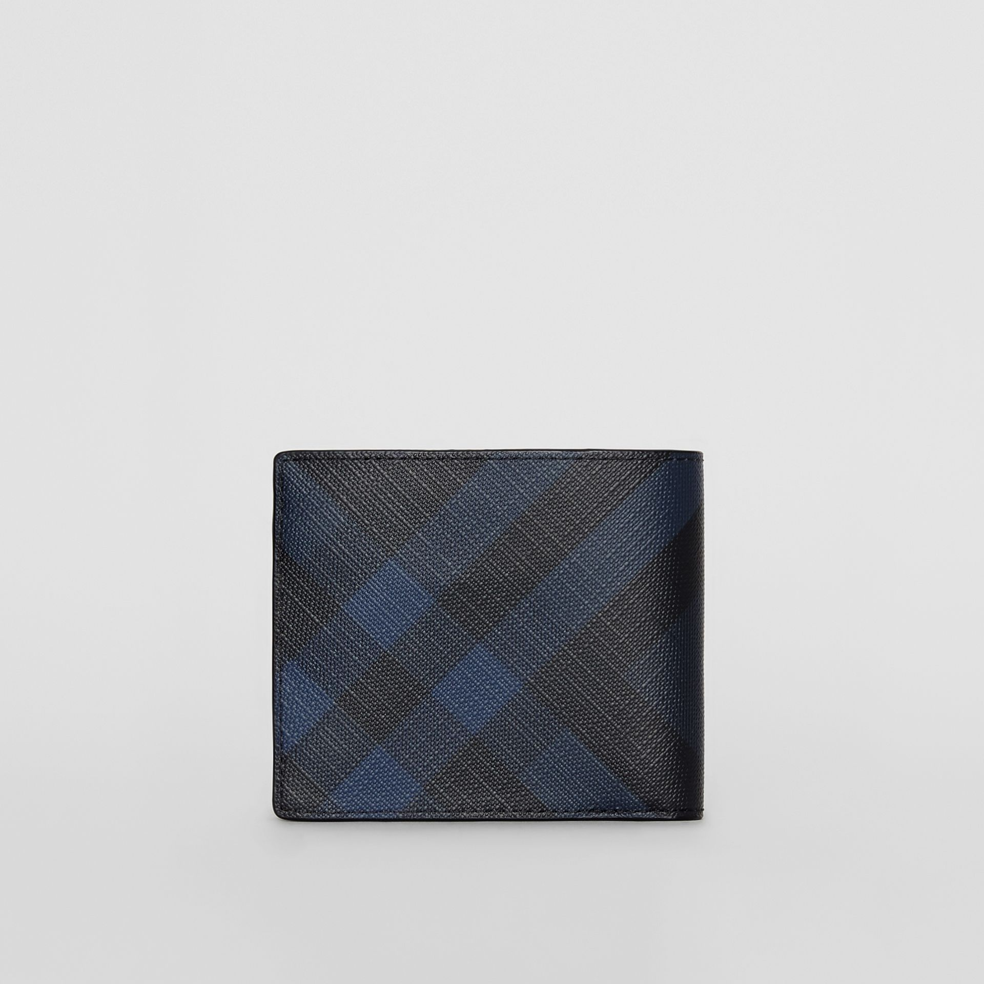 London Check ID Wallet in Navy/black - Men | Burberry Hong Kong - gallery image 5