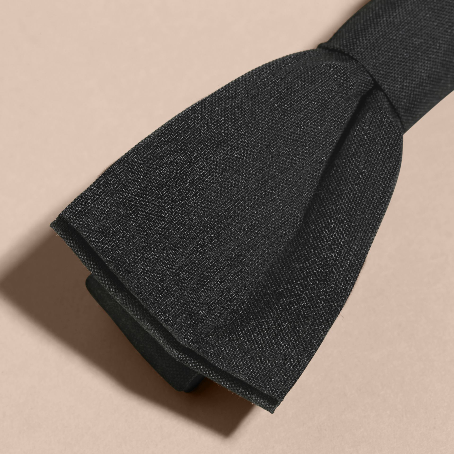 Silk Bow Tie in Black | Burberry - gallery image 2